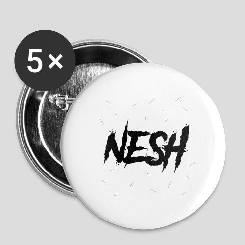 Nesh Logo - Buttons groß 56 mm (5er Pack)