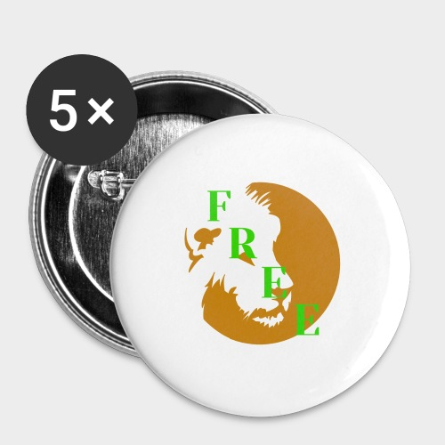 Free - Buttons large 2.2''/56 mm (5-pack)