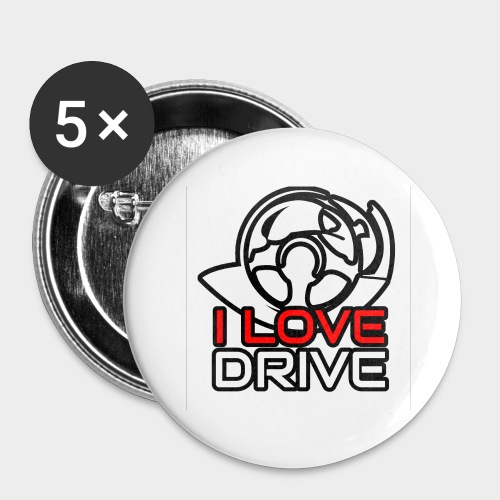 I Love Drive - Buttons large 2.2''/56 mm (5-pack)