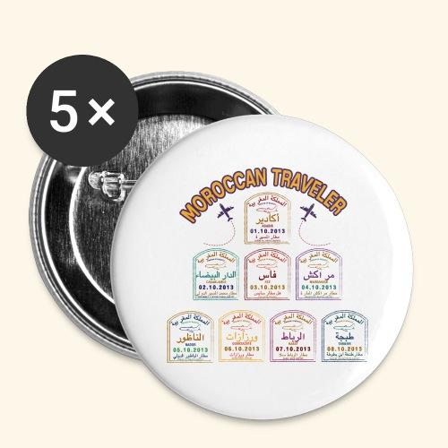 Moroccan Traveler - Lot de 5 grands badges (56 mm)
