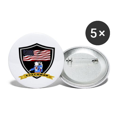 Spaceman Design - Buttons groß 56 mm (5er Pack)