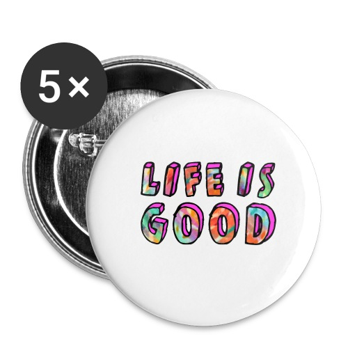 LifeIsGood - Buttons large 2.2''/56 mm (5-pack)