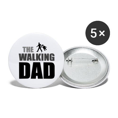 the walking dad auf dem Weg in die lustige Bar - Buttons groß 56 mm (5er Pack)