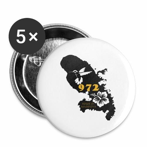 972 MADININA - Lot de 5 grands badges (56 mm)