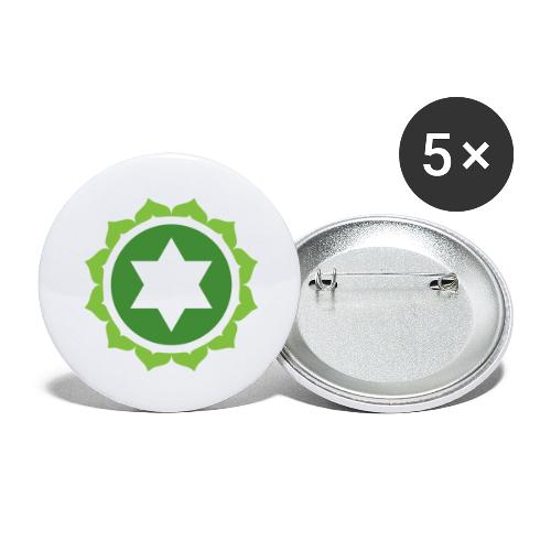 The Heart Chakra, Energy Center Of The Body - Buttons large 2.2''/56 mm(5-pack)