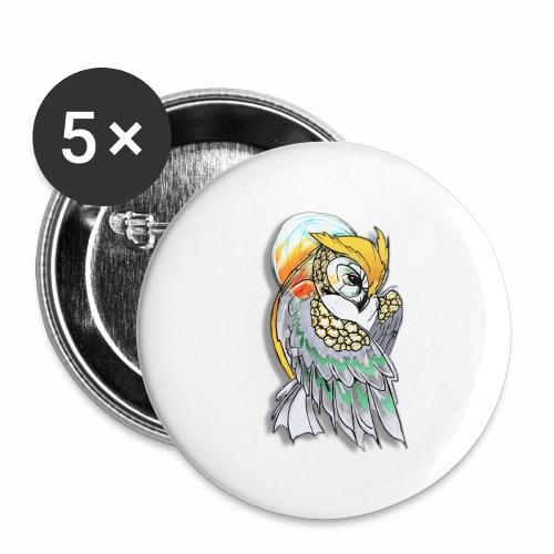Cosmic owl - Paquete de 5 chapas grandes (56 mm)