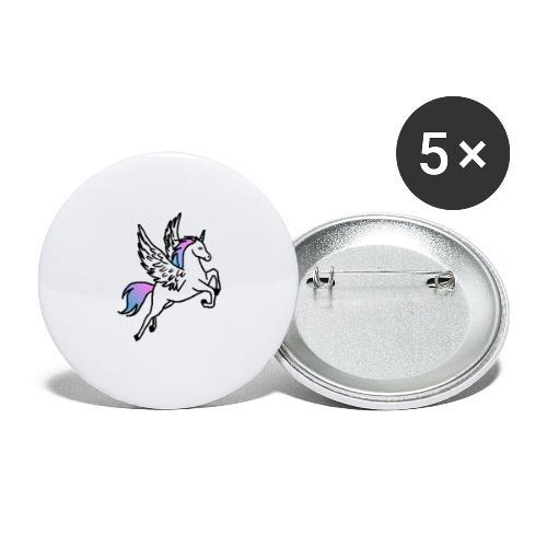 Fliegendes Einhorn - Buttons groß 56 mm (5er Pack)