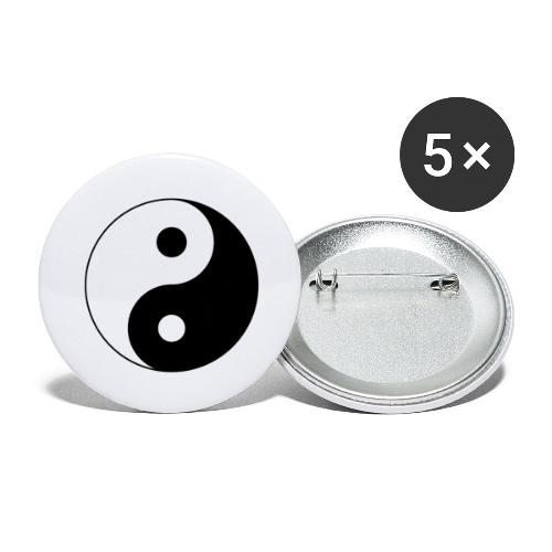 Yin Yang balance in life - Buttons large 2.2''/56 mm(5-pack)