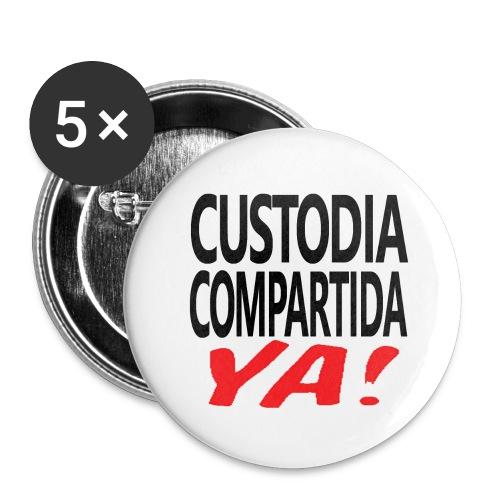 Custodia Compartida YA Negro - Paquete de 5 chapas grandes (56 mm)