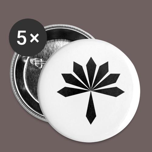 GBIGBO zjebeezjeboo - Rock - Fleur [FlexPrint] - Lot de 5 grands badges (56 mm)