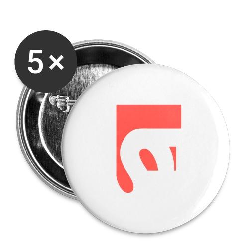 Feinwaru FS Logo - Buttons large 2.2''/56 mm(5-pack)