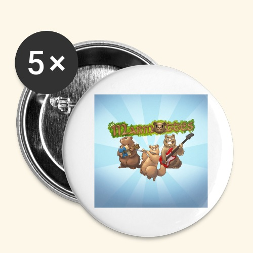 badge groupe - Lot de 5 grands badges (56 mm)