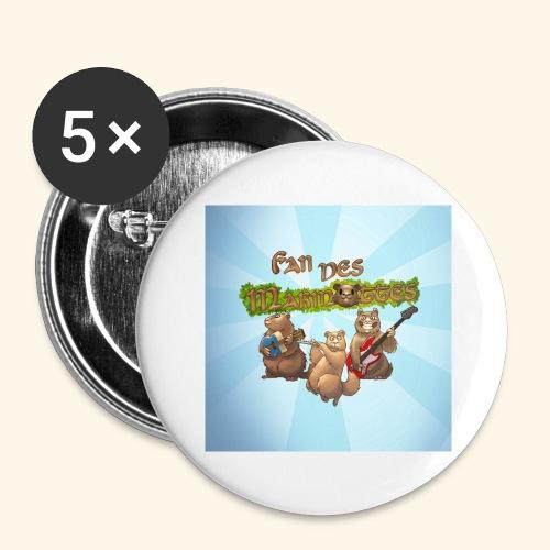Badge fans - Lot de 5 grands badges (56 mm)