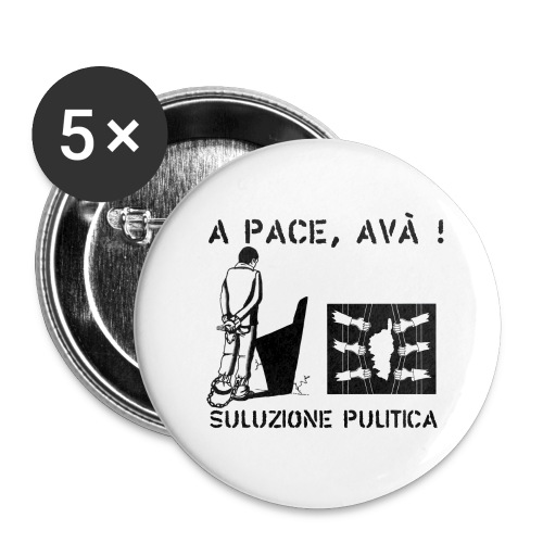 A PACE AVA 2 - Lot de 5 grands badges (56 mm)