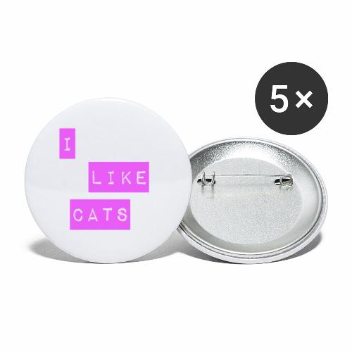 I like cats - Buttons large 2.2''/56 mm(5-pack)