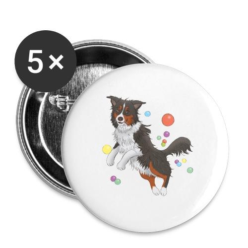 Australian Shepherd - Buttons groß 56 mm (5er Pack)