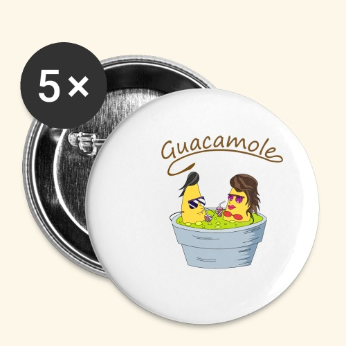 Guacamole - Paquete de 5 chapas grandes (56 mm)