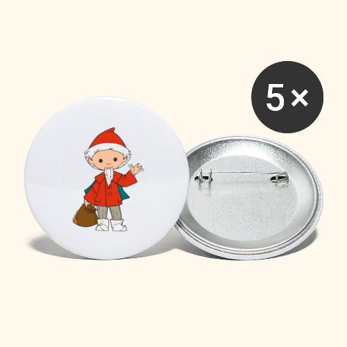Sandmännchen winkt - Buttons groß 56 mm (5er Pack)
