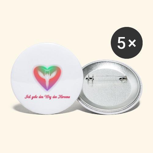 Ich gehe den Weg meines Herzens - Buttons groß 56 mm (5er Pack)