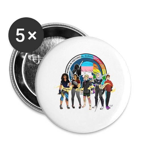 HEMAWomen2 - Buttons large 2.2''/56 mm (5-pack)