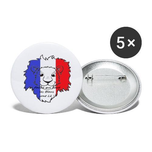 Lion supporter France - Lot de 5 grands badges (56 mm)