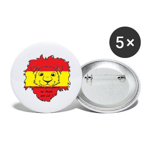Lion supporter Espagne - Lot de 5 grands badges (56 mm)