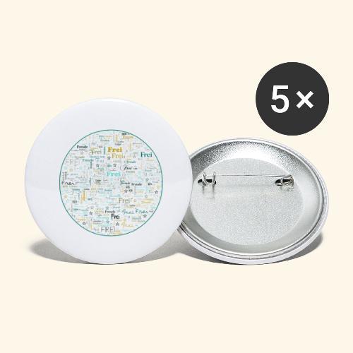 Ich bin - Buttons groß 56 mm (5er Pack)