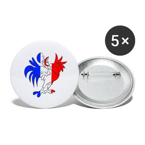 Coq France - Lot de 5 grands badges (56 mm)