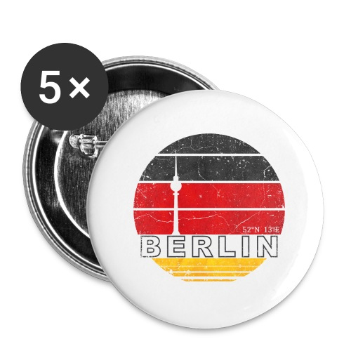 BERLIN, Germany, Deutschland - Buttons large 2.2''/56 mm (5-pack)