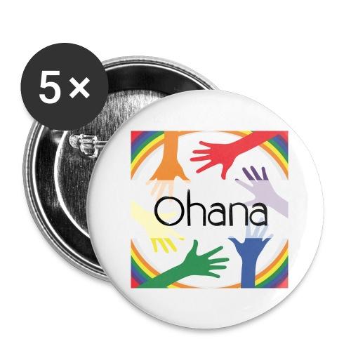 Ohana heißt Familie - Buttons groß 56 mm (5er Pack)