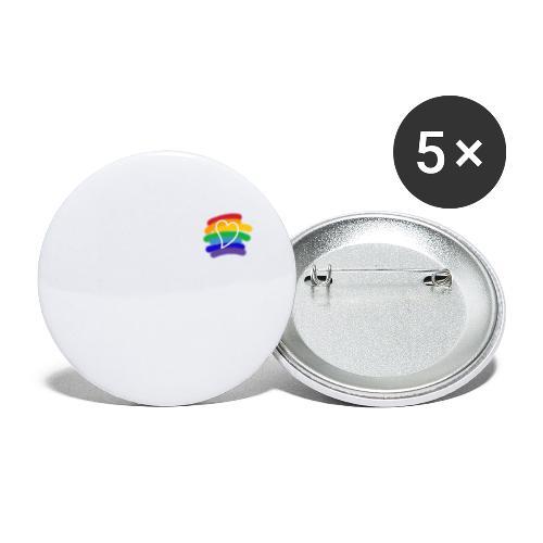 Love color - Paquete de 5 chapas grandes (56 mm)