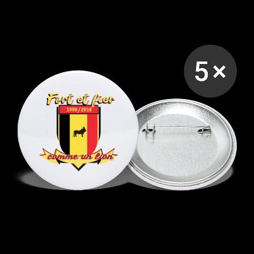 belgique foot coupe du monde - Lot de 5 grands badges (56 mm)