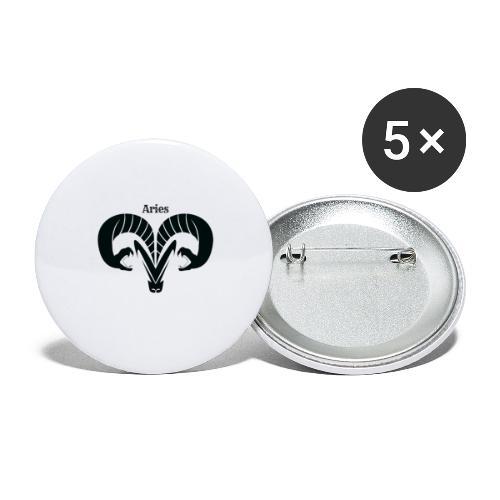 Aries Signum - Buttons groß 56 mm (5er Pack)