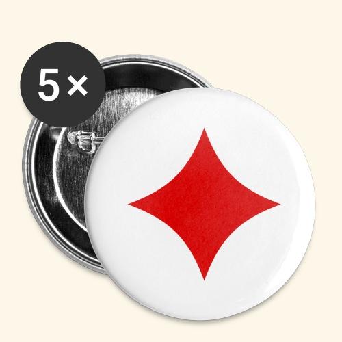 Poker - Buttons groß 56 mm (5er Pack)