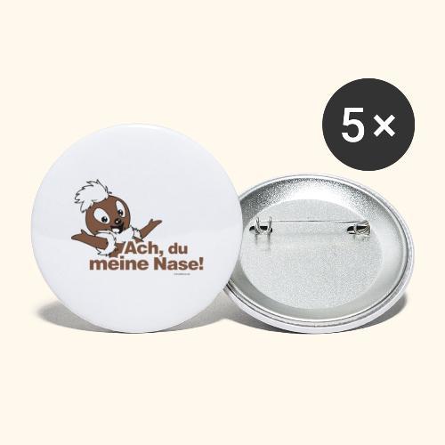 Pittiplatsch 2D Ach, du meine Nase - Buttons groß 56 mm (5er Pack)