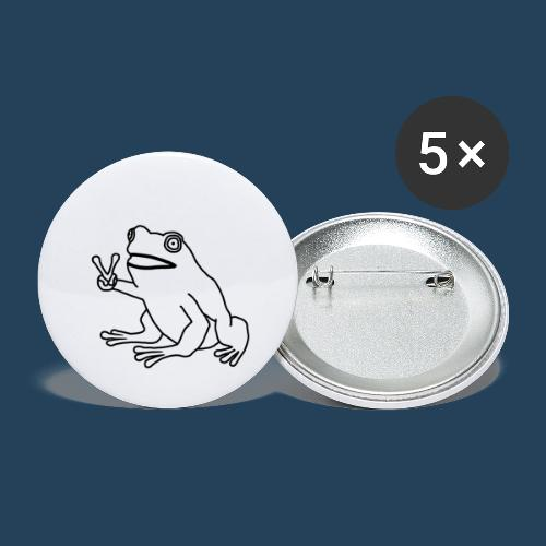 Frog Peace! by Cuerno - Buttons groß 56 mm (5er Pack)