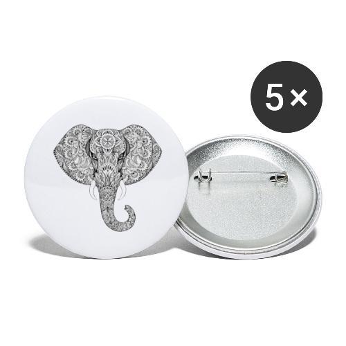 Elephant - Lot de 5 grands badges (56 mm)