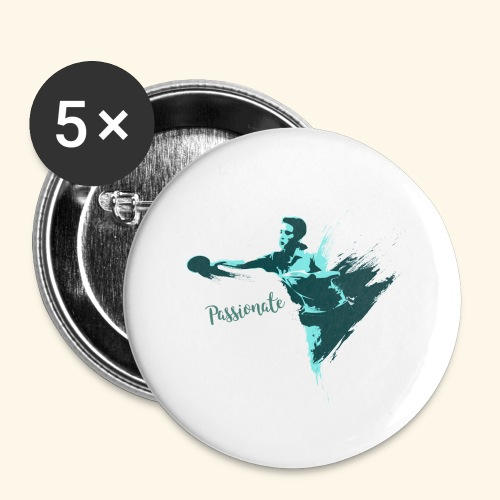 Passionate on winning table tennis champ - Buttons groß 56 mm (5er Pack)