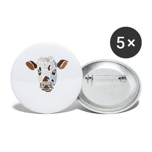 cow-spread - Lot de 5 grands badges (56 mm)