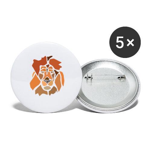 lion-spread - Lot de 5 grands badges (56 mm)