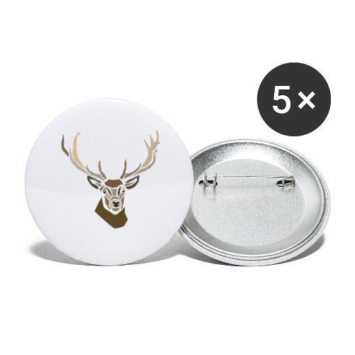 cerf-spread - Lot de 5 grands badges (56 mm)