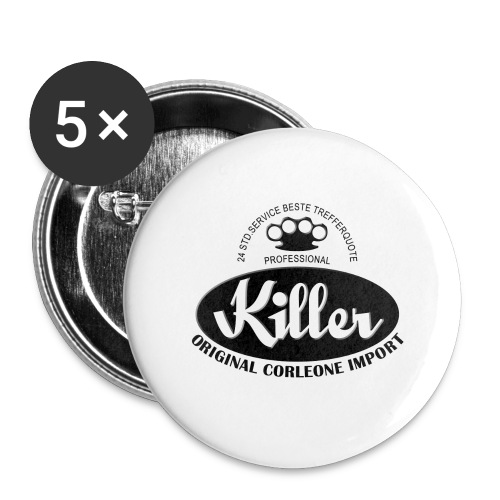 Killer Professional - Buttons groß 56 mm (5er Pack)