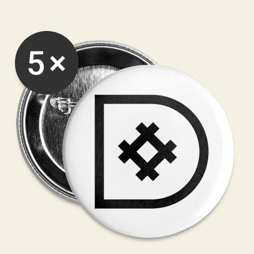 Icona de #ildazioètratto - Confezione da 5 spille grandi (56 mm)