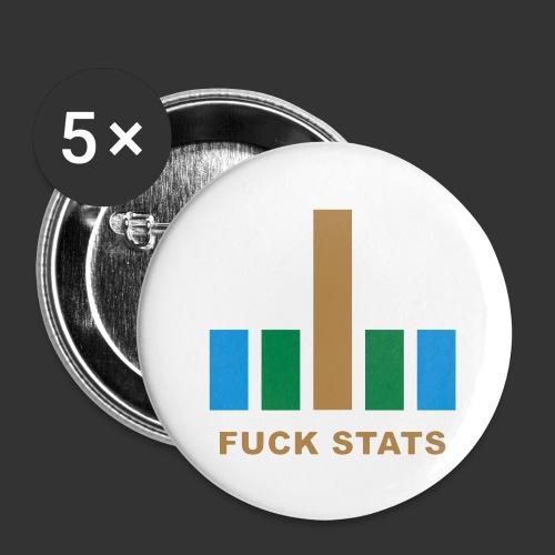 F*CK Stats - Lot de 5 grands badges (56 mm)