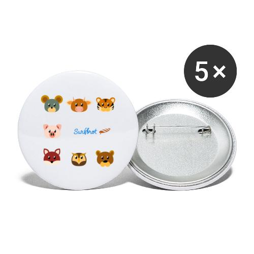 Surfbrot Serie 1 - Buttons large 2.2''/56 mm(5-pack)