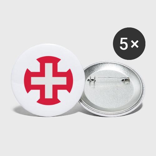 Croix du Portugal - Lot de 5 grands badges (56 mm)