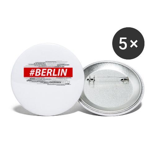 Hashtag Berlin - Buttons groß 56 mm (5er Pack)
