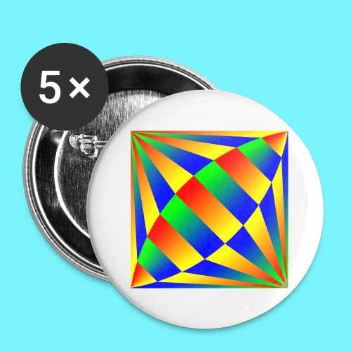 Giant cufflink design in blue, green, red, yellow. - Buttons large 2.2''/56 mm(5-pack)