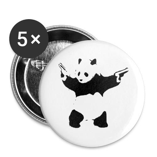 oso panda pistolas - Paquete de 5 chapas grandes (56 mm)