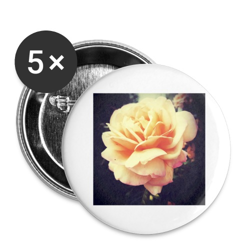 Flower - Lot de 5 grands badges (56 mm)